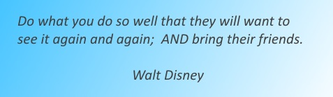 Quote by Walt Disney.