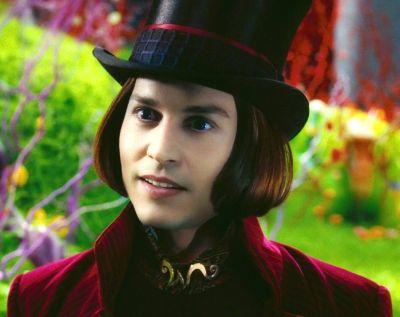 Willy Wonka portrayed by Johnny Depp