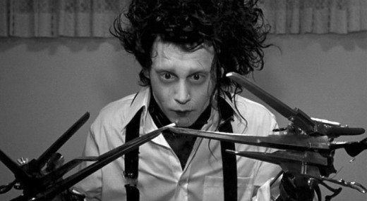 Edward Scissorhands portrayed by Johnny Depp
