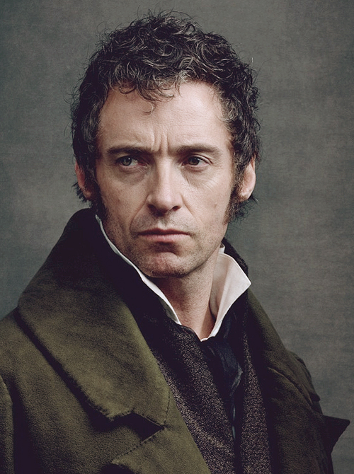 Jean Valjean portrayed by Hugh Jackman