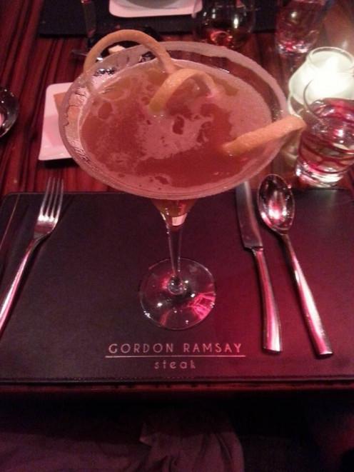 English Sidecar Cocktail at Gordon Ramsay Steak.