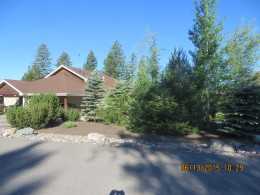 FRONT OF OUR UNIT WITH TREES