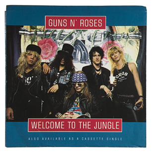 """Cover for Guns & roses' single, """"Welcome to the Jungle."""""""