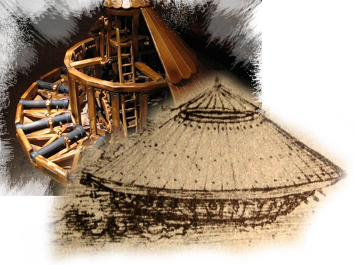 Leonardo Da Vinci designed a wooden tank, which lacked only a suitable propulsion mechanism to turn it into reality. Although impressed with it,  the Duke of Milan, Ludovico Sforza, never ordered any to be built.