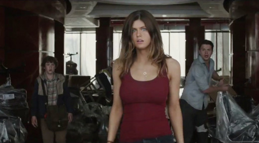 "Is it bad that every time Alexandra Daddario was on screen that all I could think about was how incredibly hot she was, while giving two s***s less about the other guys she was with.  God, I""m such a horrible person.  XP"
