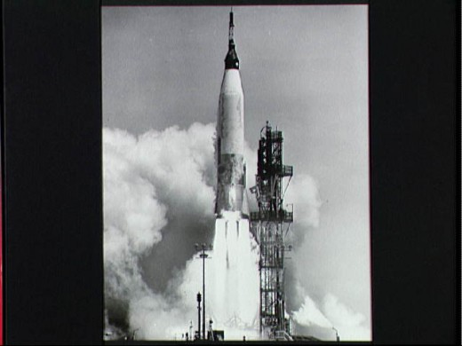 ALAN SHEPARD BLASTS OFF