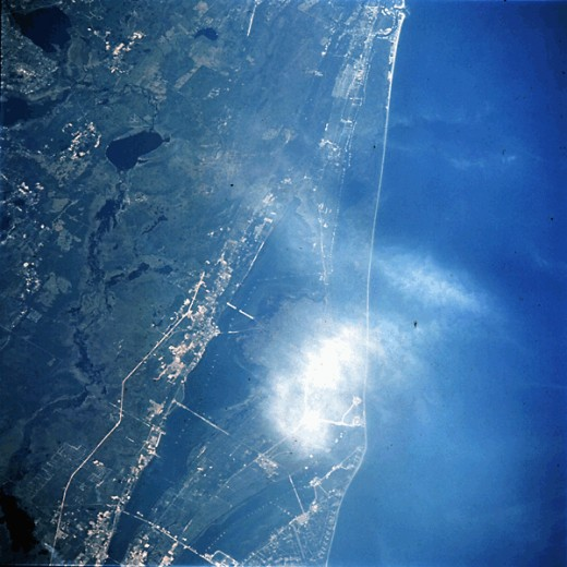 CAPE KENNEDY FROM GEMINI SPACECRAFT