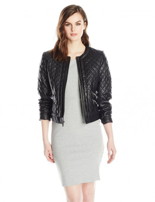 Marc New York by Andrew Marc Women's Sandie Quilted Leather Jacket