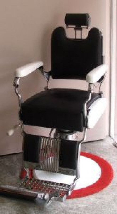 A barber chair