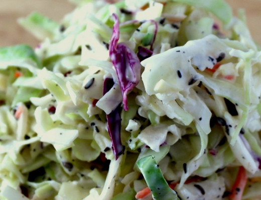 Homemade dressing and herbs add unique taste combinations to a summer coleslaw