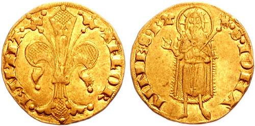 Front and back of Italian/Florentine Florin: Creative Commons Attribution-Share Alike 3.0 Unported