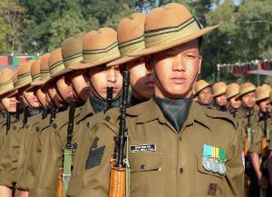 Gurkha troops of army