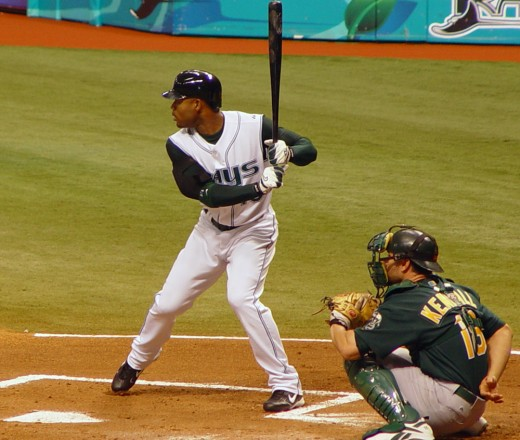 Carl Crawford as a Tampa Bay Devil Ray