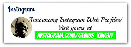 Visit your Instagram web profile by adding your username at the end of instagram url