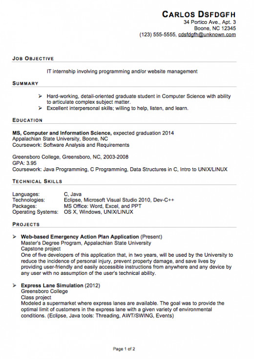 resume,internship