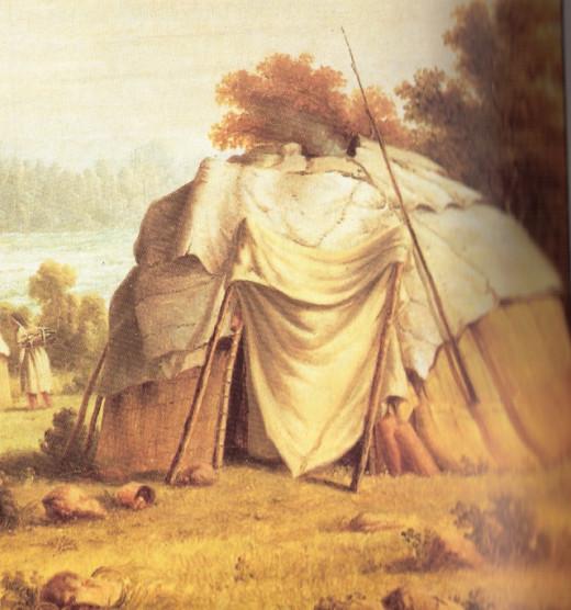 Chippewa/Ojibwe dwelling.