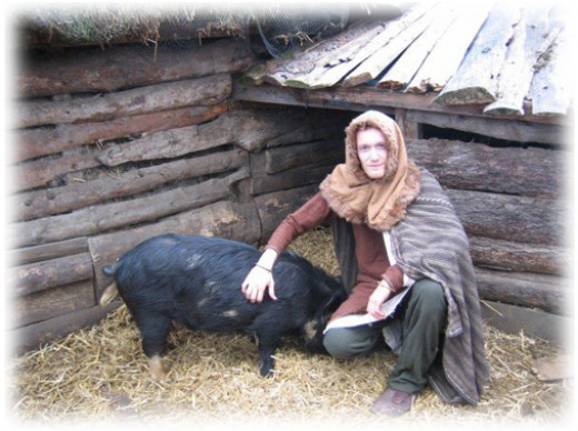 Godfrid the swineherd would have been a 'ceorl', a working man but not a craftsman. Or he could be a freed man, a former thrall or slave. In times of national security a ceorl would have been called on to do his 'fyrdfaereld', his militia duty