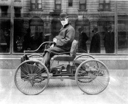 Henry Ford in his Quadricycle