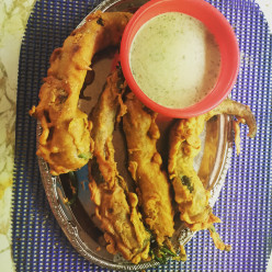 Chilli Pakora :Batter Fried Chilli Peppers
