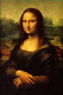 The Mona Lisa (compare this portrait with those of Salai later in the hub. You decide if he may have been the model for this face also,