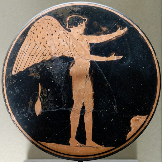 Eros design on a bobbin, c470 BC