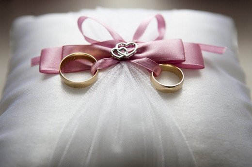 Wedding ringbearer pillow