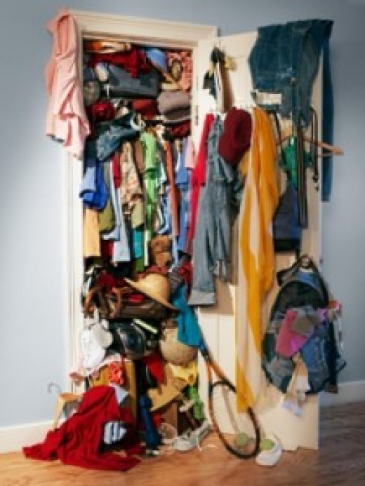 Rome wasn't built in a day, and it is unwise to think you can conquer a closet like this in an hour or less.