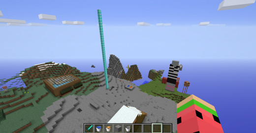 A Minecraft Scene in Creative Mode