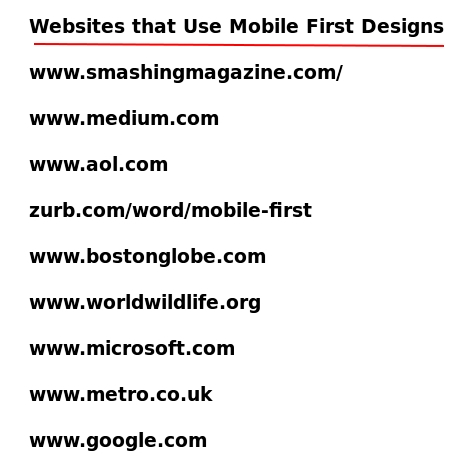 Examples of Websites that Use Mobile First Responsive Designs