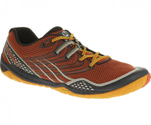 Merrell's Men's Trail Glove, part of its barefoot/minimalist line of running shoes.