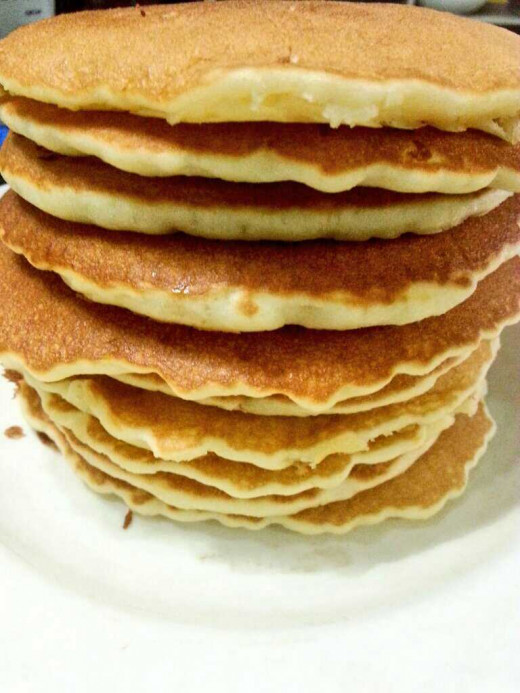 Make these light and fluffy banana pancakes for breakfast for a healthier meal.