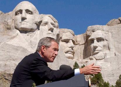 President at Mt. Rushmore
