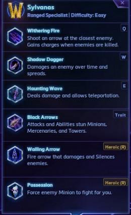Sylvanas' abilities