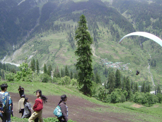 Paragliding at Solang Valley. What an experience.