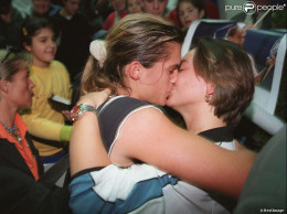 Mauresmo and wife, Silvie...still don't know who is dad!