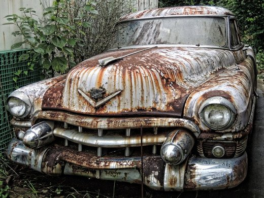 Without sufficient protection against corrosion a car ends like this - scrap metal.