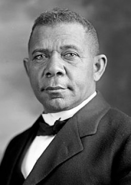 The great Booker T. Washington: born a slave, he rose to become a celebrated speaker, author, educator, and founder of the Tuskegee Institute. (1856-1915)