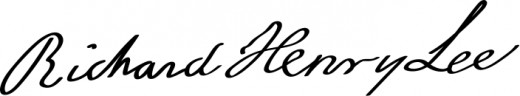 Signature of Richard Henry Lee the delegate that introduced the motion calling for independence from Great Britain.