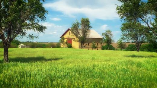 A farm in Nebraska.
