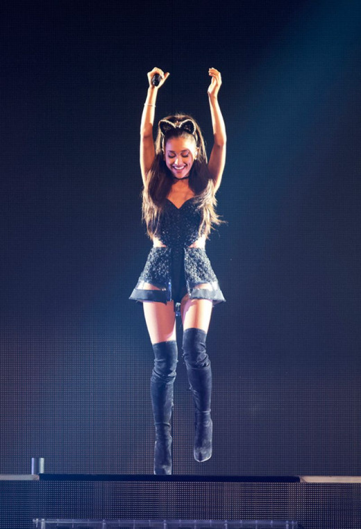 Ariana Grande Struts Her Stuff on Stage and Has Fun During Her Honeymoon Tour Show