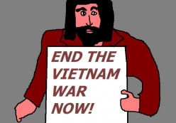 Captain America in the 1970s was fighting for peace in Vietnam against the arch villain the Mandarin.