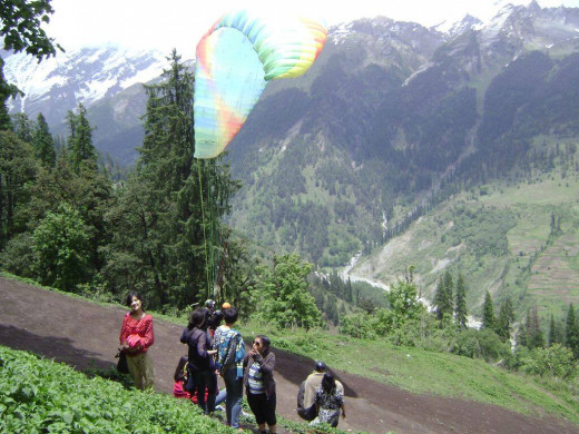 Paragliding at Solang Valley. MY God what an experience.