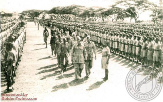 Netaji with his army