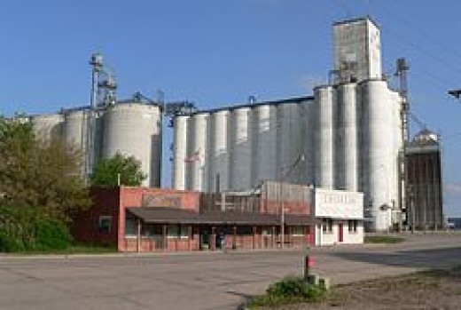 Downtown Funk with grain elevators