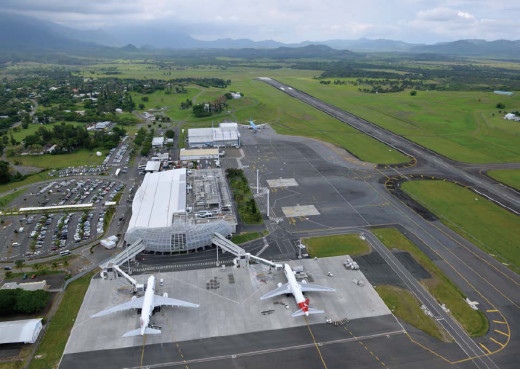 Aerial view of La Tontouta International Airport