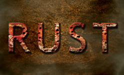Create Eroded Rusty Text in Photoshop