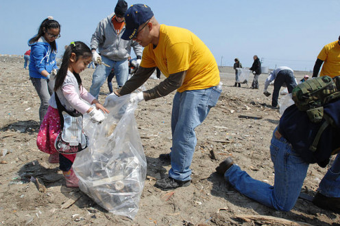 Involving kids in cleanup activities is great training, especially if it becomes a way of life.