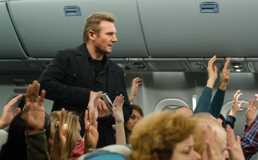 "Liam Neeson simply exudes menace in ""Non-Stop"""