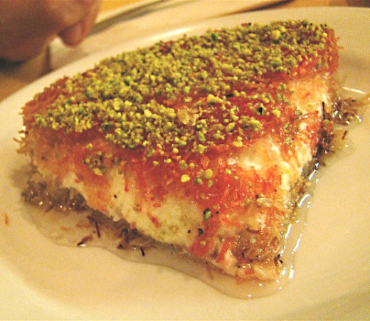 Knafeh is a unique dessert that your guests and friends will love.