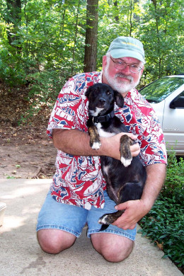 Me and my dog Daisy, a prey/pack-driven mixed breed who is neither aggressive nor afraid of anything.
